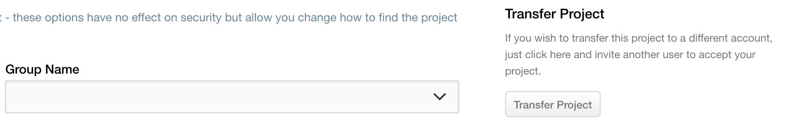How do I transfer a project? - Projects — Codebase
